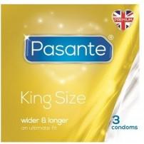 Prezerwatywy dłuższe i szersze 3 sztuki Pasante King Size