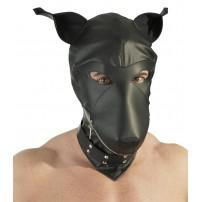 Skórzana maska psa