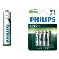 Bateria Philips Long Life AAA R03
