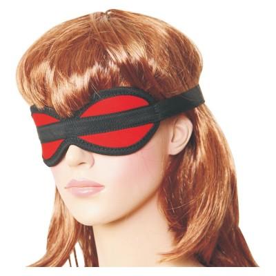 Czerwono czarna maska bez otworów