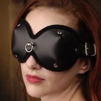 Skórzana maska na oczy wyprofilowana