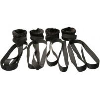 Zestaw kajdan mocowane do łóżka - na ręce i nogi