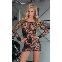 Sukienka mini wykonana z miękkiej i elastycznej siateczki - Sweetheart