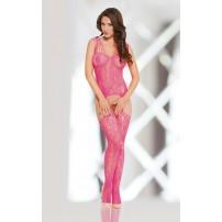 Różowe Bodystocking -  Appia Pink